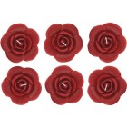 Rose Floating Candles 6 Ct Red