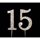 Sweet 15 Silver Rhinestone Cake Topper Mis Quince