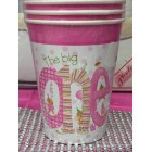 1st Birthday Pink Girl Beverage Cups Favors or Decorations