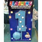 1st Birthday Flashing Blue or Pink Candle Party Favor