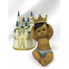 Ethnic Baby Fairytale Dream Castle Centerpiece with Gold Bling