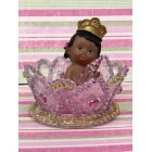 Ethnic Baby Girl Princess or Baby Boy Prince on Tiara Crown Baby Shower Favor Decoration Cake Topper