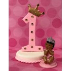 Number One Ethnic Pink Princess or Blue Prince with Crown First Birthday Cake Topper Centerpiece Decoration