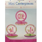 1st Birthday Pink Girl Mini Centerpieces Gift Decorations