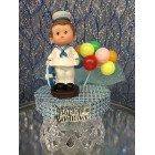 1st Birthday Sailor Navy Boy Cake Topper Centerpiece Decoration Keepsake