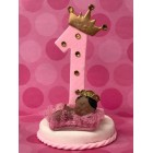 First Birthday Number One Ethnic Sleeping Pink Princess or Royal Blue Prince with Bottle Cake Topper Centerpiece Decoration