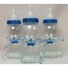 Blue Jumbo Baby Shower Bottle Centerpiece Cake Topper Decoration