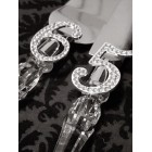 Cake Knife and Server Set Rhinestone Numbers 65 Birthday Retirement Party