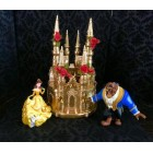 Beauty and The Beast Belle White or Gold Castle Cake Topper Centerpiece Decoration