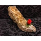 Beauty and The Beast Belle Gold Shoe Cake Topper Favor Decoration