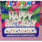 Happy Birthday Flashing Candle Party Favor