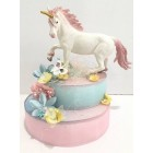 "Unicorn Cake Topper-Centerpice Decoration Unique Mystical Fairytale Creature Birthday Decor 7.5"" H"