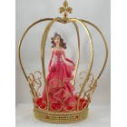 "Princess Crown Centerpiece Decoration For Sweet 16 Quinceanera Birthday Party 11"" H"