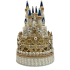 Crown Princess Castle Cake Topper Rhinestones Decoration For All Occasions
