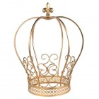 Golden Wire Metal Crown Centerpiece Cake Topper Keepsake Gift