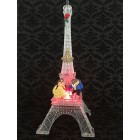 Beauty and The Beast Belle Eiffel Tower Plastic Cake Topper Centerpiece Decoration with Led Lights