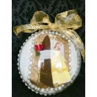 "Beauty and The Beast Belle 3D Favor Cake Decoration 6"" Ball"
