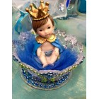 Boy Prince Inside Crown Centerpiece Cake Topper Top Decoration Baby Shower or Birthday
