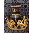 King Birthday Black and Gold Rhinestone Goblet with Crown Cup Prom Birthday Keepsake Gift Idea