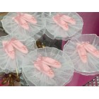 12 Pink Slippers Capias or Corsages Party Favor Cake Decorations