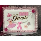Ballerina Princess Birthday Party Guest Book Girls Party Keepsake