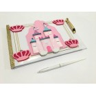 Pink Princess Castle Birthday Baby Shower Guest Book Gift Keepsake