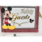 Mickey Mouse Disney Birthday Party Guest Book Keepsake Gift