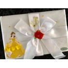 Beauty and The Beast Belle Birthday Satin Book Theme Keepsake