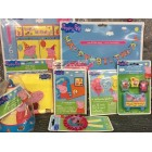 Peppa Pig Birthday Party Supplies Package Loot Bags Hats Invitations Balloons Candle Set Wall Banner Scene Setter
