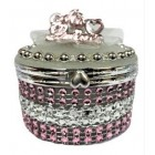 Mis Quince Anos Birthday Party Round Pink Jewelry Favor Box Quinceanera Gifts