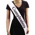 Cumpleanera Sash Spanish Birthday Girl in Black and White Keepsake Gift