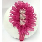 Hello Kitty Hand Crafted Lace Head Band Fuchsia Girls Birthday Keepsake