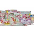 Unicorn Birthday Party Supply Package-Plates,Napkins,Table Cover,Cups Banner Baking Cups