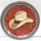 Western Cowboy Cowgirl Dinner Plates Table Party Supplies 8 Pieces