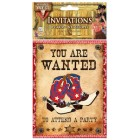 Western Cowboy Party Invites Keepsake Favors