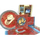 Western Cowboy Cowgirl Themed Table Party Supplies Set 42 pieces