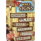 Western Cowboy Cowgirl Decoration Signs Party Supplies 6 Piece