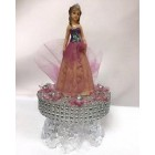 Birthday Girl with Tiara on Clear Cake Base in Lavender