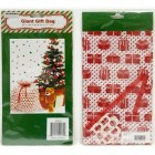 "Giant Metallic Gift Sack For Christmas(Pack of 2) 33"" X 44"" - Jumbo Gift Bags - Great for Large Bulky or Unusual Shaped Presents (Metallic Red and Green) Christmas Tree and Box Design"