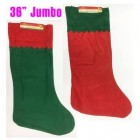 "36"" Assorted Jumbo Christmas Stockings Set of 2 Felt Stockings Decoration"