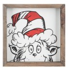 Dr Seuss Cat In The Hat Wood Wall Art Home Decoration Theater Media Room Man Cave