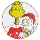 Dr Seuss Grinch and Cindy Lou Who Round Canvas Wall Art Home Decoration Theater Media Room Man Cave