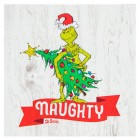 Dr Seuss Grinch Naughty Wood Wall Art Home Decoration Theater Media Room Man Cave