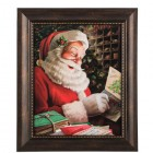 Santa Reading Letters Wood Wall Decoration Christmas Home Decor Media Room