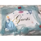 Cinderella Princess Birthday Signature Guest Book Weddings Sweet 16 Keepsake Gift