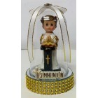 """First Communion Praying Girl In Plastic Dome Cake Topper Decoration 5"""" H"""