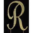 Rhinestone Gold Letters
