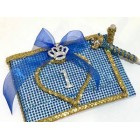 Princess Birthday Royal Theme Gold and Blue Signature Guest Book