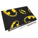 Batman Themed Logo Guest Book Made Of Fabric with Pen Birthday Party Supplies Gift