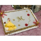 Birthday Guest Book with Rhinestone Letter Belle Beauty and The Beast Birthday Keepsake Gift